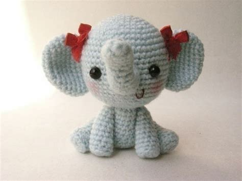 pattern crochet elephant adorable crocheted elephant pattern amigurumi pinterest