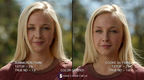 before vs after colour correction i did on my client in depth lens tests leica summicron c vs cooke s4 film