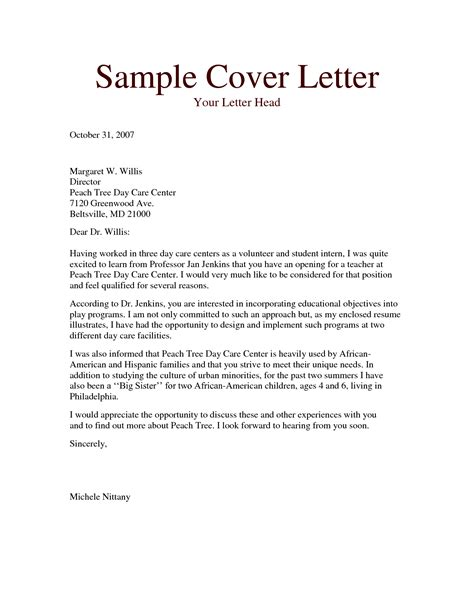 sle resume child care cover letter australia worker