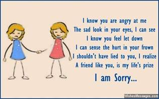i am sorry messages for friends apology quotes and notes