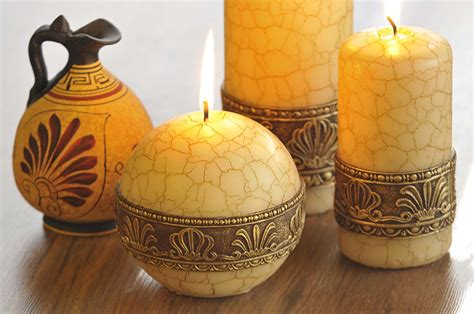 decorative candles greece decorative candle