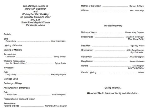 wedding church program templates free church program template wordscrawl
