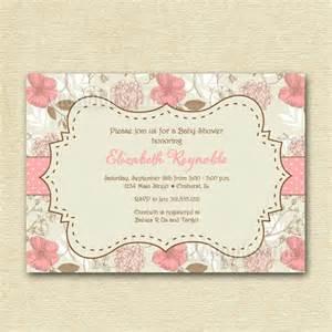 items similar to vintage flowers roses hydrangea baby shower invitation printable invitation