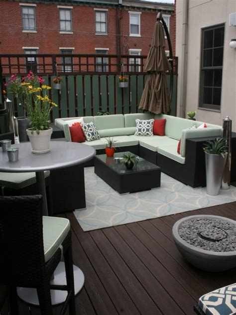deck furniture layout condo terrace design pictures remodel decor and ideas