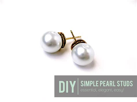 how to make sted jewelry cafe craftea diy simple pearl studs