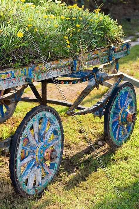 Garden Wagon Planter by Painted Wagon Garden Planter Container Garden
