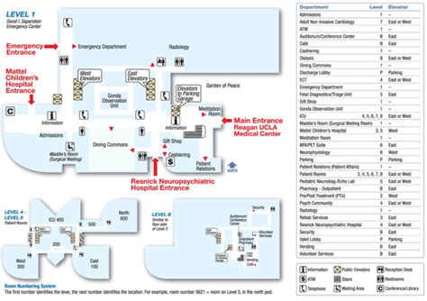 medical center floor plan resnick neuropsychiatric hospital layout