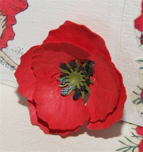 How To Make Paper Poppy Flowers - paper flowers poppy from joanna sheen