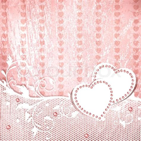 Wedding vintage pink background   Stock Vector   Colourbox