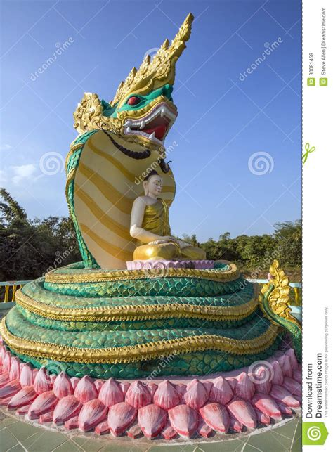 Reclining Buddha Myanmar by Buddha Image Bago Myanmar Burma Royalty Free Stock