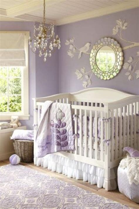 Lilac Nursery Decor Lilac Nursery Wall Detail Bedrooms Nurseries