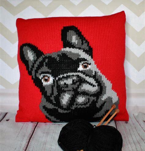 knitting pattern sweater french bulldog french bulldog pet portrait cushion cover knitting pattern