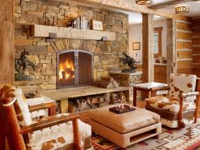 Rustic Livingroom - get cozy a rustic lodge style living room makeover