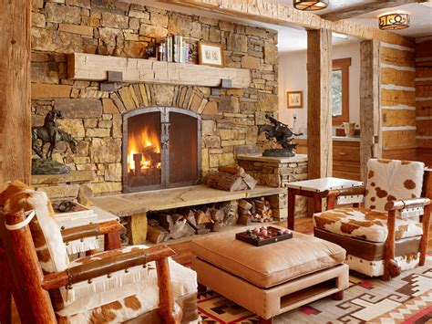 Rustic Living Room by Get Cozy A Rustic Lodge Style Living Room Makeover