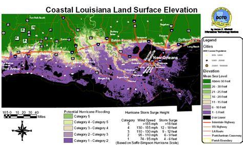 south louisiana elevation map ppt louisiana s geography powerpoint presentation id
