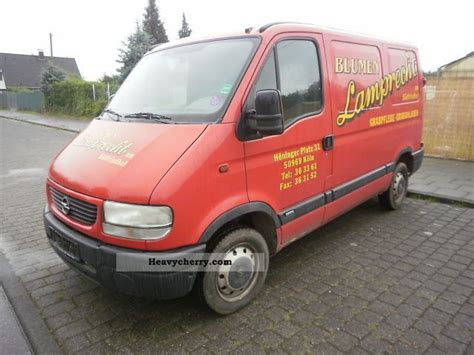 opel movano 2001 opel movano 1 hand 2001 box type delivery van photo