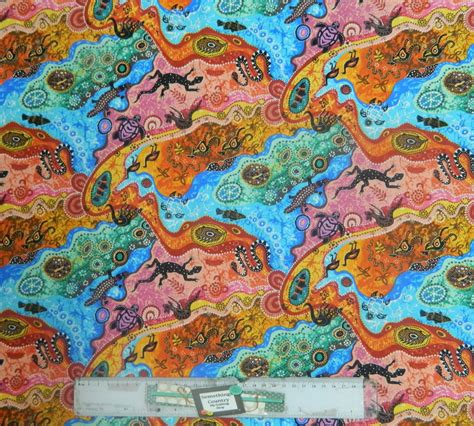 Patchwork Fabric Australia - patchwork quilting sewing fabric aboriginal dilkara bright