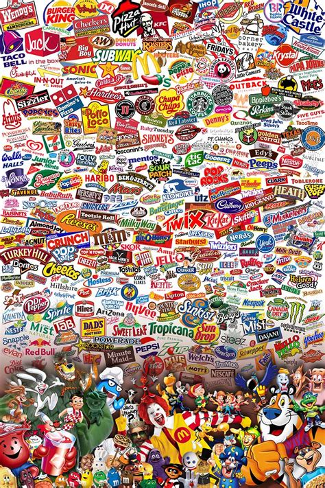 Fast Food Restaurant Logos Collage Fast Food Collage
