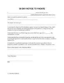 30 day move out notice template form 30 day fill printable fillable blank