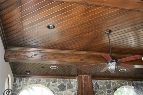 tongue and groove ceiling furnish the house with these