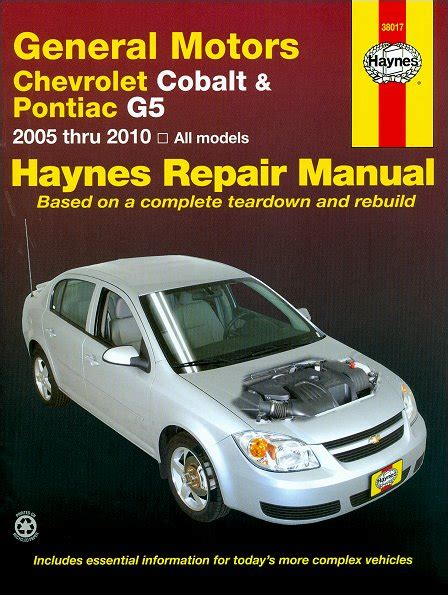 manual repair free 2007 chevrolet cobalt ss electronic valve timing chevy cobalt pontiac g5 pursuit repair manual 2005 2010 haynes