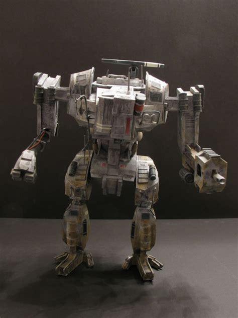 Mechanical Papercraft - hawken assault mech crafting