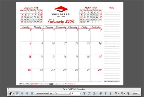 2015 editable calendar templates 2015 editable fillable pdf calendar template from
