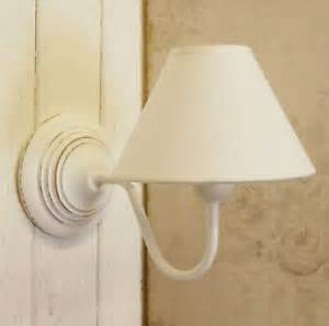 french country shabby chic white wooden wall light with