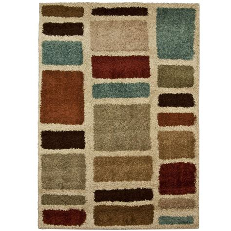 Multicolor Area Rugs Orian Rugs Moodie Blues Multi 6 Ft 7 In X 9 Ft 8 In Area Rug 238426 The Home Depot