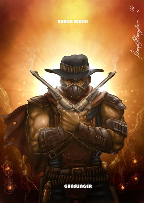 wallpaper erron black mortal kombat x erron black gunslinger variation by