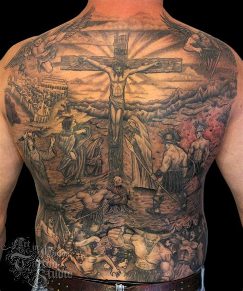 tattoo back pieces jesus back pesquisa do тату