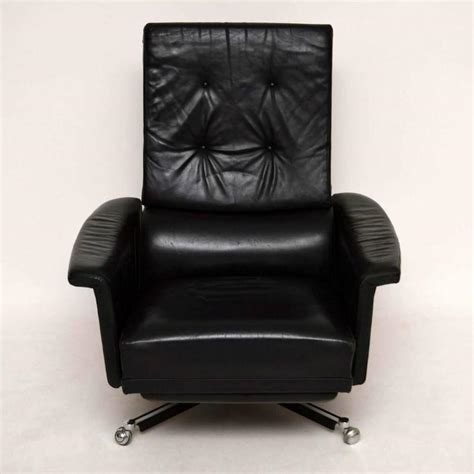 Retro Swivel Armchair by Retro Leather Swivel Reclining Armchair Vintage 1960s At