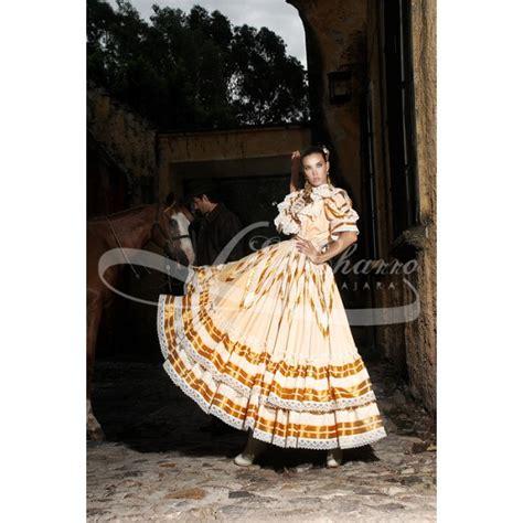 vestidos de escaramuza de gala el charro vestido escaramuza ocres