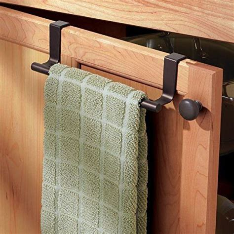kitchen towel racks for cabinets metrodecor mdesign over the cabinet kitchen dish towel bar