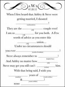 printable wedding mad libs template 7 best images of wedding mad libs printable