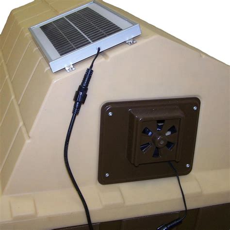 Solar Powered Dog House Exhaust Fan Whisper Quiet Vent