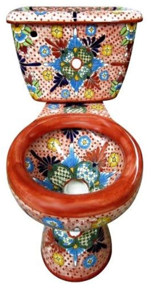 Mexican Bathroom Accessories Talavera Toilet Bathroom Accessories Sets Bath Decor