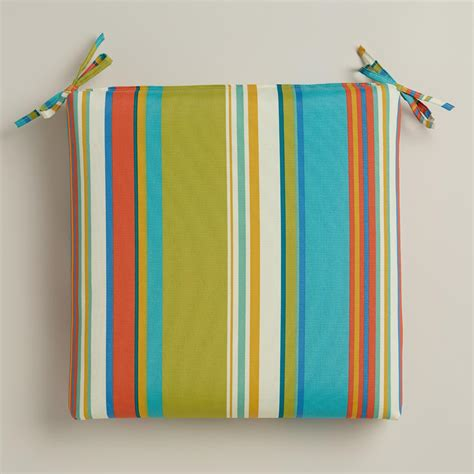 Patio Cushions World Market Striped Santorini Outdoor Chair Cushion World Market