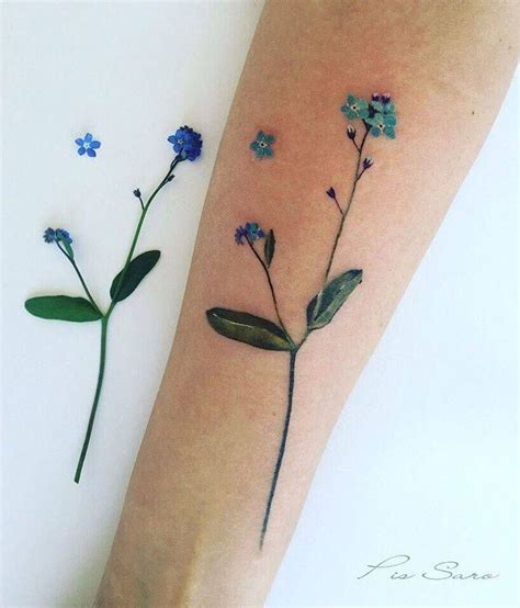 small forget me not tattoo forget me not flower on the inner forearm
