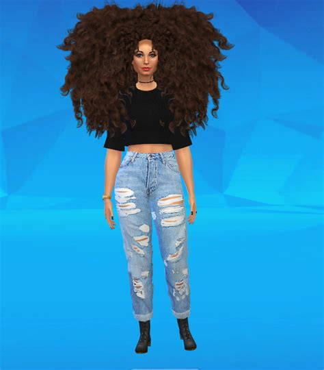 sims 4 cc afro big afro hair for the sims 4 sims 4 mods