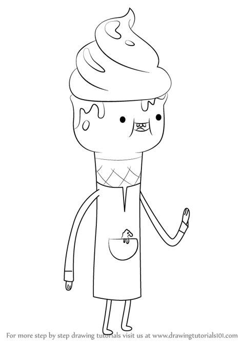 Learn How to Draw Dr. Ice Cream from Adventure Time