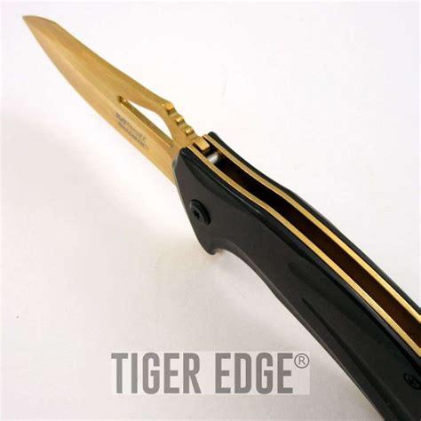 5 11 Tactical Black Gold by Assist Folding Pocket Knife Mtech Black Gold Blade