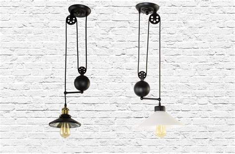 Pulley Pendant Light Fixture Iron Pendant Light Fixture With Pulley Vintage Industrial