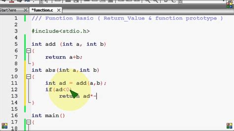 definition section in c programming bangla c programming tutorial 77 function basic return
