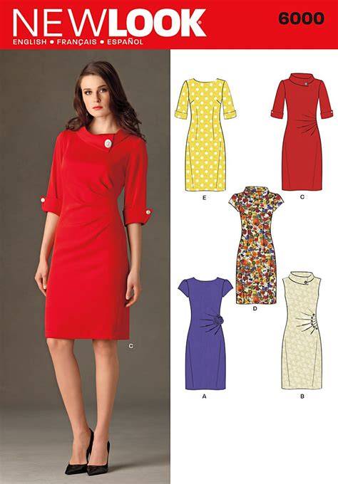 pattern for dress new look 6000 misses dresses