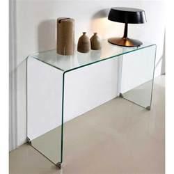 console design en verre table console en verre transparente joan