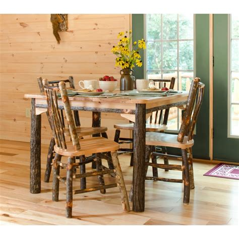 rustic dining room furniture sets rustic hickory and oak