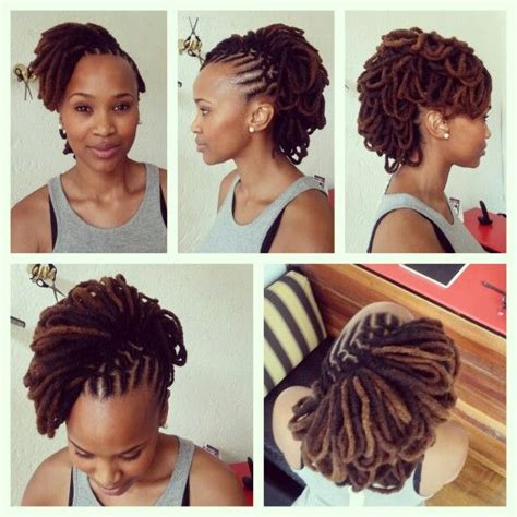 temporary dread urban hairstyle loving her locks locs and marley braids pinterest