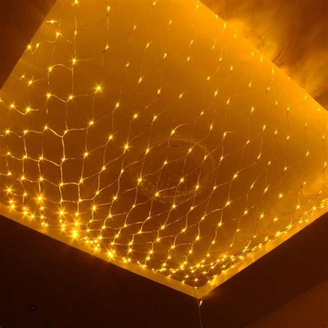 lights on the ceiling 2m 3m 200 pcs led string net light mesh curtain