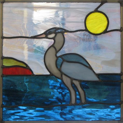 L Stained Glass by Blue Heron Stained Glass Pattern L